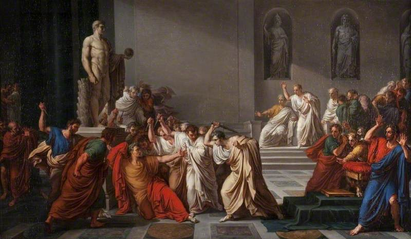 Camuccini, Vincenzo, 1771-1844; The Death of Julius Caesar