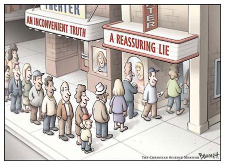 reassuring-lie