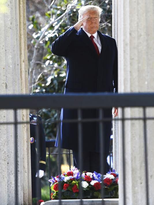 Trump wreath