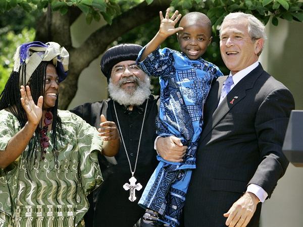"George W. Bush, Manyongo Mosima ""Kuene"" Tantoh, Baron Misoma Loyiso Tantoh, Paul Yowakim,"