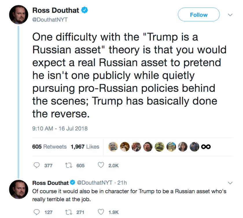 Douthat tweet