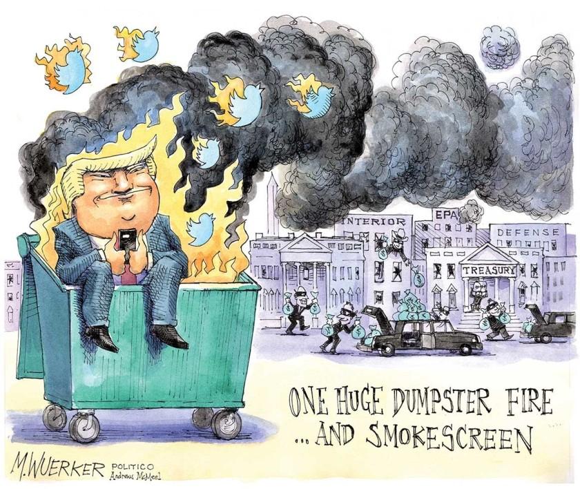 dumpster tweets