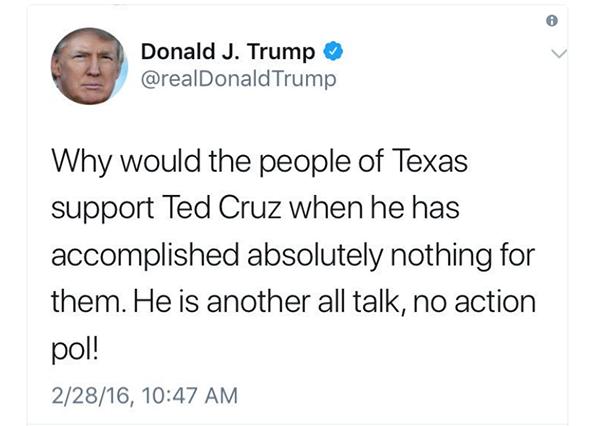 Trump Cruz tweet 2016