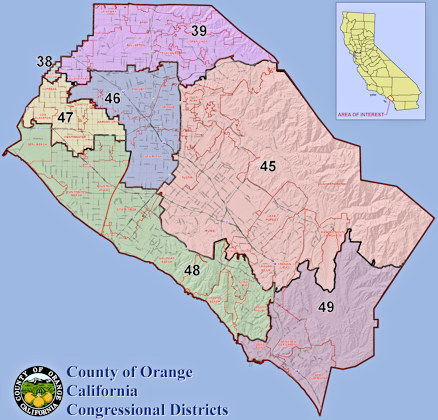 Orange Co map