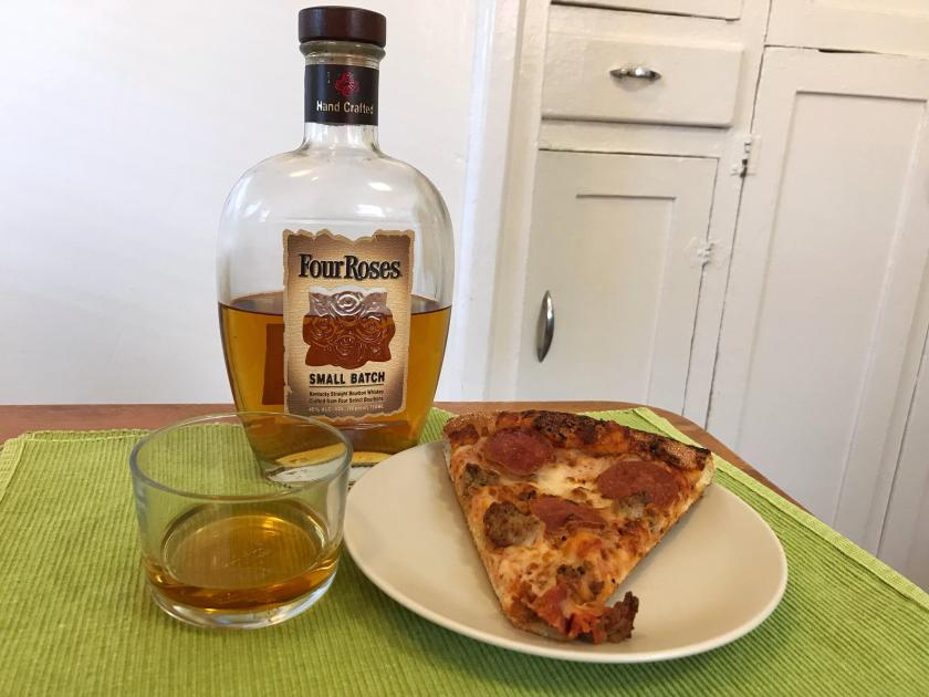 whiskey and pizza