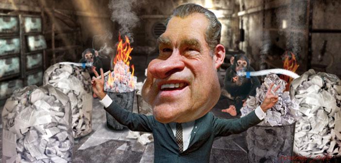Nixon smoking