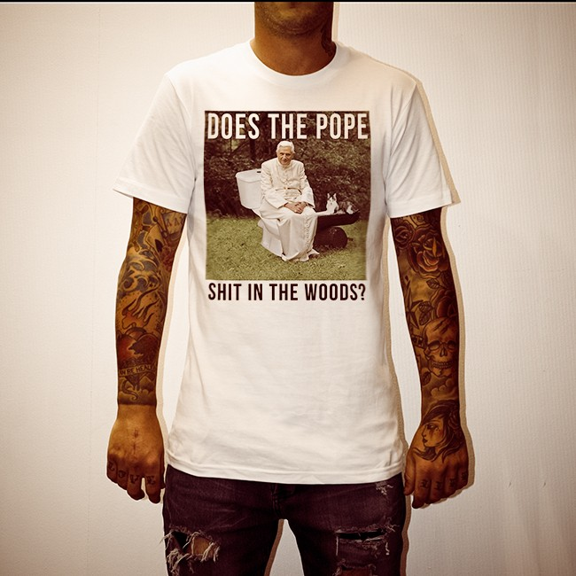 pope in the woods