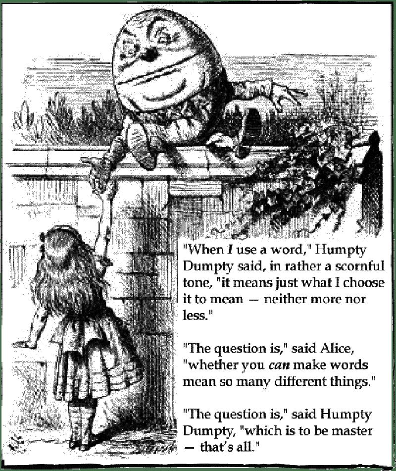 Humpty Dumpty words