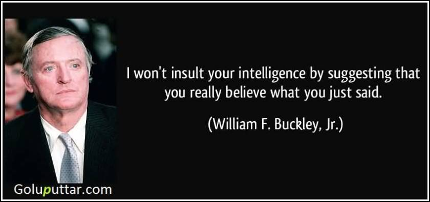 insulting your intelligence