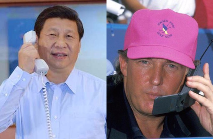 Xi on the Phone