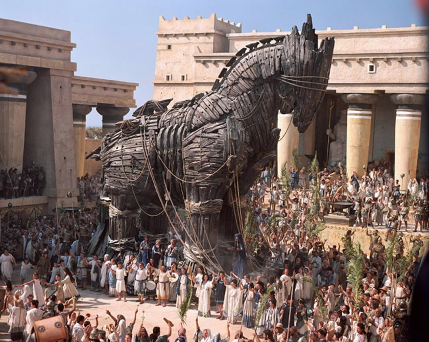 TROJAN HORSE FROM SCENE FROM FILM TROY